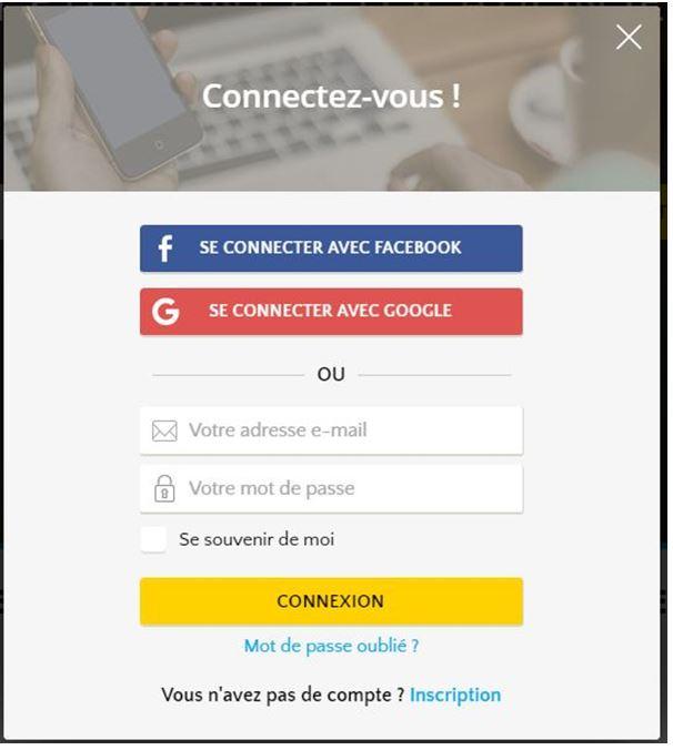 facebook connexion compte